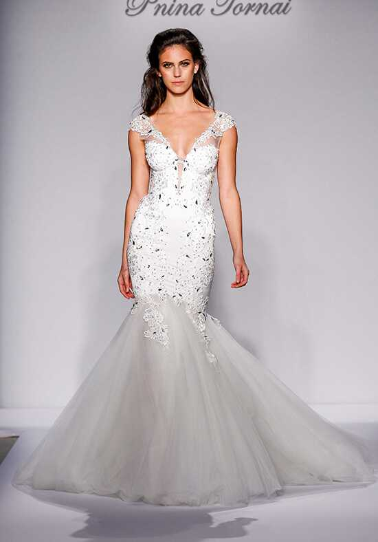 Pnina tornai for kleinfeld wedding dresses for Kleinfeld wedding dresses with sleeves