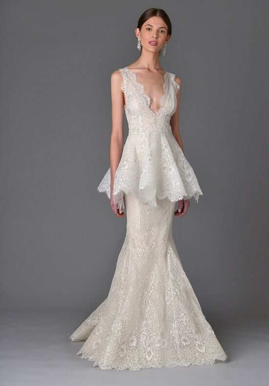 Marchesa lavender wedding dress the knot marchesa lavender mermaid wedding dress junglespirit Image collections