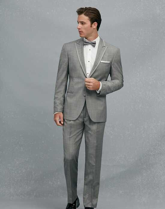 Jos. A. Bank Satin Edge Peak Lapel Gray Tuxedo Gray Tuxedo