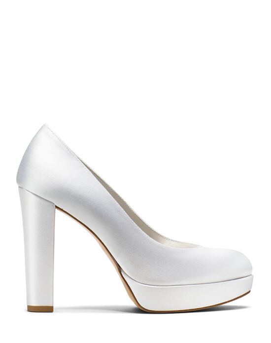 Stuart Weitzman Strongswoon Pump White Satin White