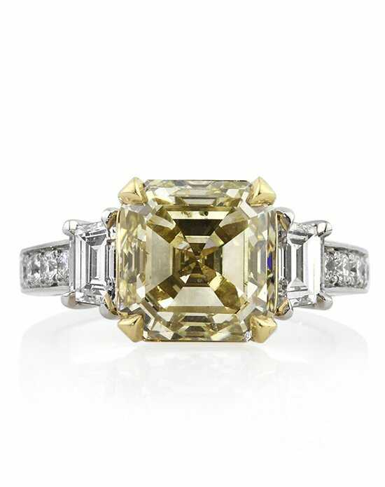 Mark Broumand 6.21ct Fancy Light Yellow Asscher Cut Diamond Engagement Ring Engagement Ring photo