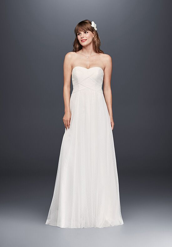 David's Bridal David's Bridal Collection Style WG3438 Sheath Wedding Dress