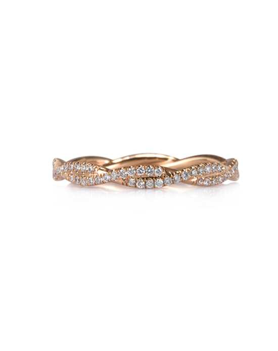 Mark Broumand 0.50ct Round Brilliant Cut Diamond Eternity Band in 18k Rose Gold Item # 4369-1 Rose Gold Wedding Ring