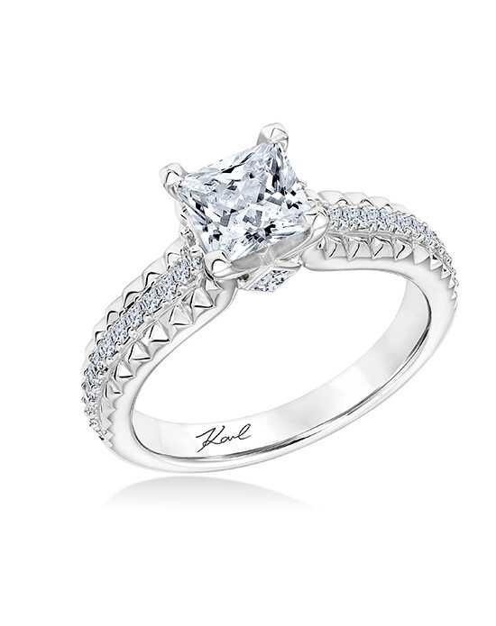 karl lagerfeld glamorous princess cut engagement ring - Princess Wedding Rings
