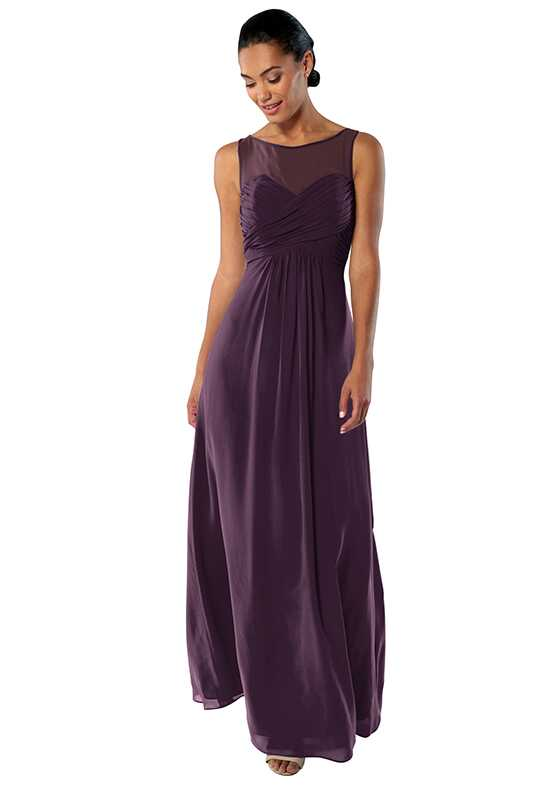 Brideside Monica in Eggplant Illusion Bridesmaid Dress