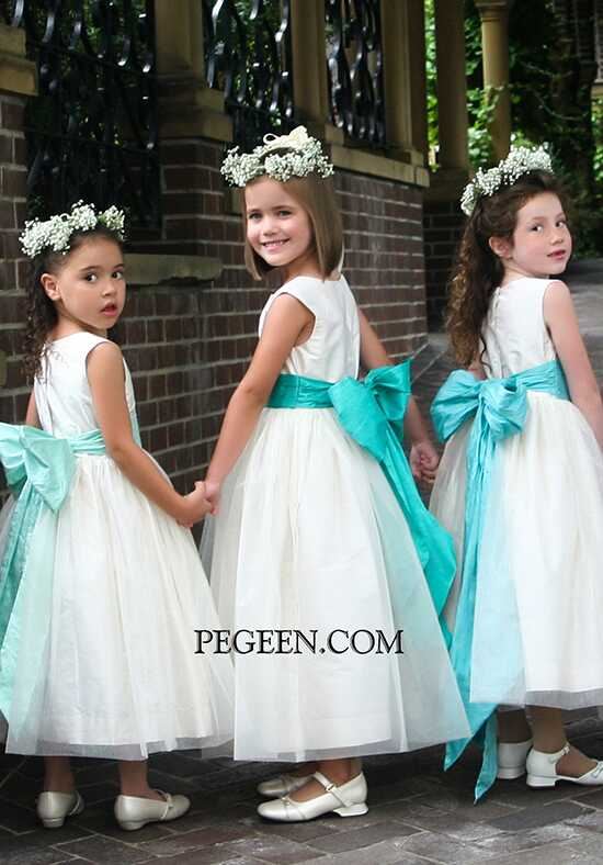 Pegeen.com 356 Black Flower Girl Dress