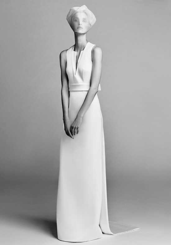Viktor&Rolf Mariage Open back graphic column Sheath Wedding Dress