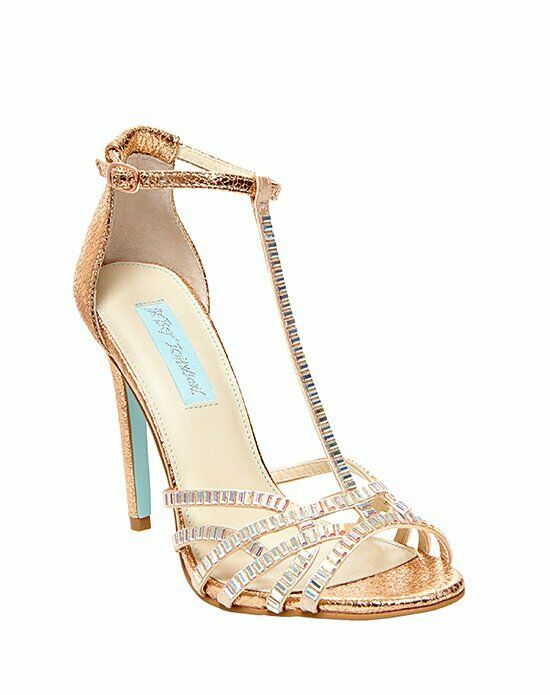 Blue by betsey johnson sb ruby rose gold wedding shoes the knot blue by betsey johnson sb ruby rose gold gold shoe junglespirit Gallery