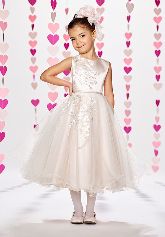 Joan Calabrese by Mon Cheri 217386 Ivory Flower Girl Dress