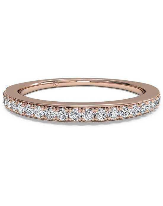 Ritani Women's Micropave Diamond Wedding Band - in 18kt Rose Gold (0.22 CTW) Rose Gold Wedding Ring