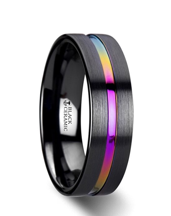 Mens Tungsten Wedding Bands W340-FBRG-R Tungsten Wedding Ring