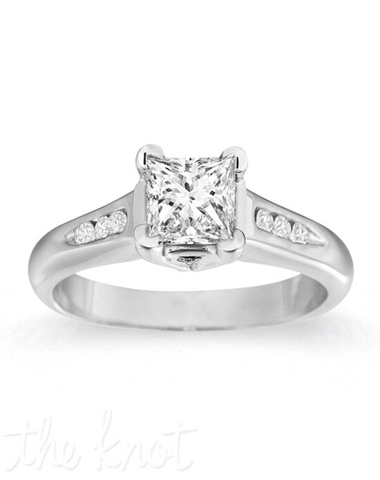 Gemesis Gemesis Classic Channel-Set Princess White Gold Wedding Ring