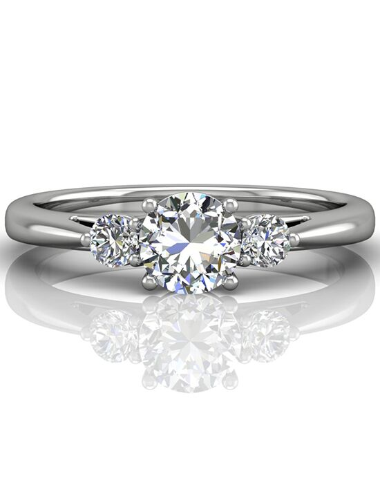 FlyerFit by Martin Flyer Classic Round Cut Engagement Ring