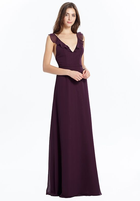 Monique Lhuillier Bridesmaids 450426 V-Neck Bridesmaid Dress