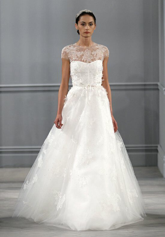 Monique Lhuillier Illusion A-Line Wedding Dress
