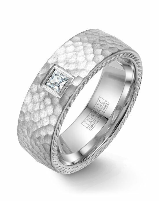 CrownRing WB-021RD8W-M10 White Gold Wedding Ring