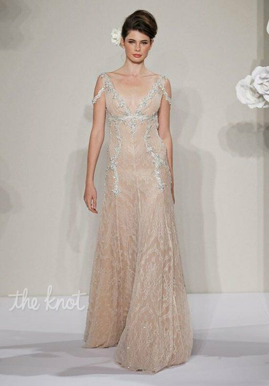 Pnina Tornai for Kleinfeld 4211 Sheath Wedding Dress