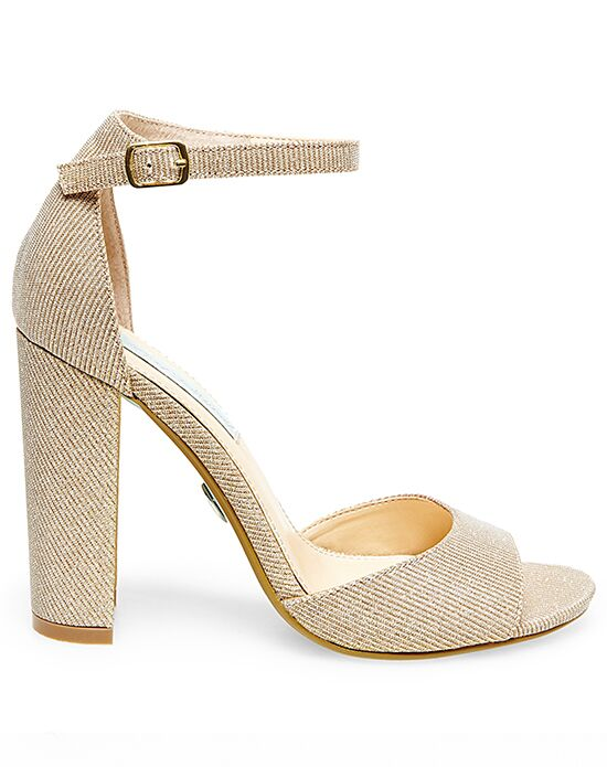 Blue By Betsey Johnson SB-CARLY-gold Wedding Shoes