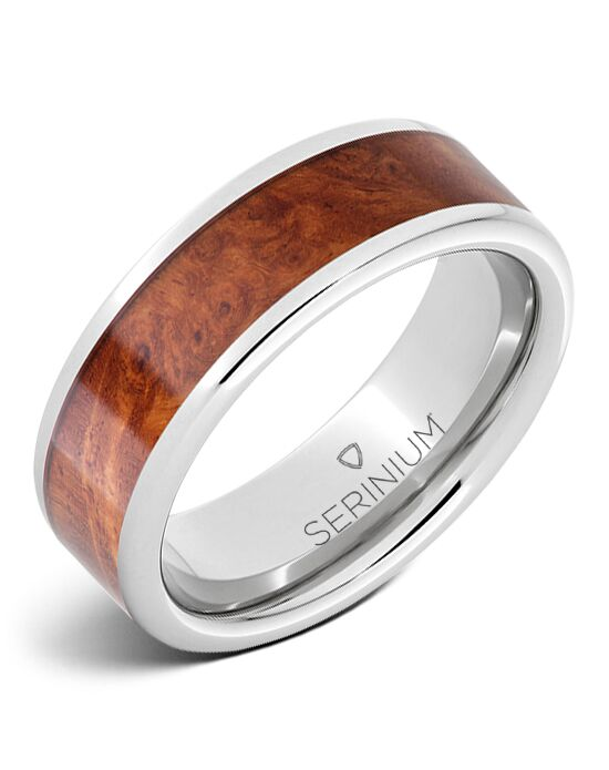 Serinium® Collection Masterpiece — Burlwood Inlay Serinium® Ring-RMSA002696 Serinium® Wedding Ring