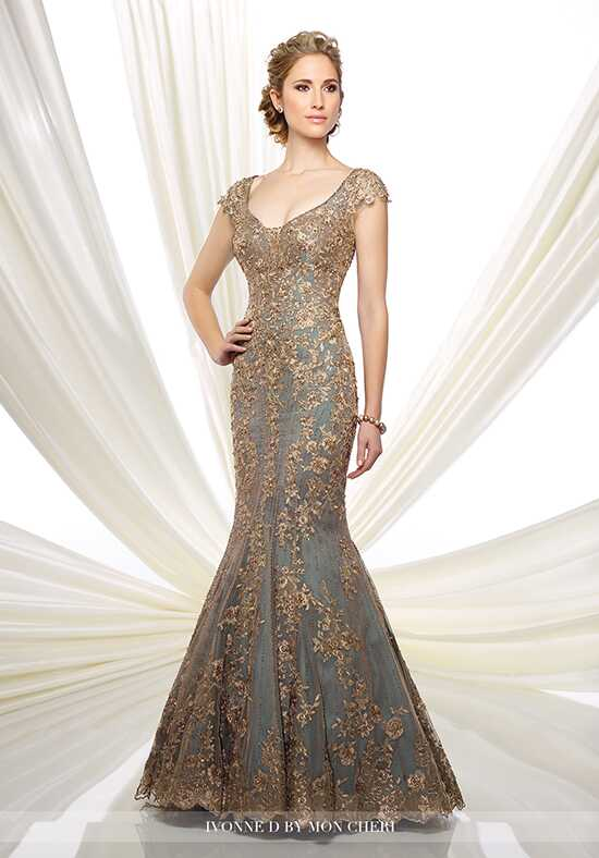 Ivonne D. 216D44 Gold Mother Of The Bride Dress