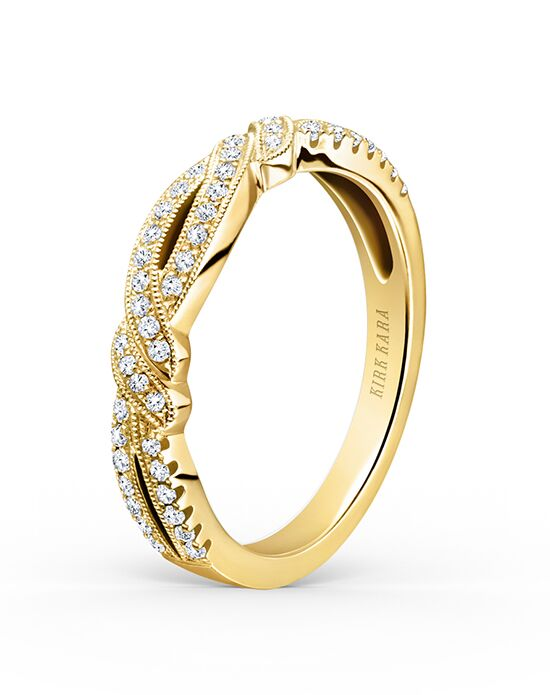 Kirk Kara Pirouetta Collection K133Y-B Gold Wedding Ring