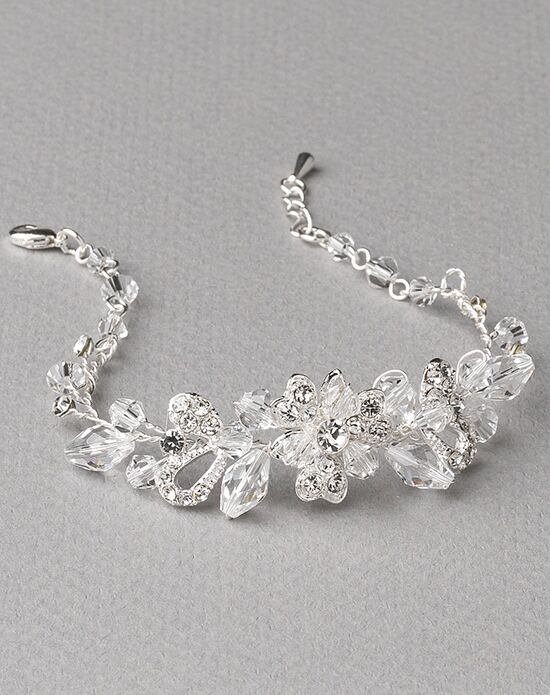 USABride Delicate Crystal Flower Bracelet JB-4825 Wedding Bracelet photo