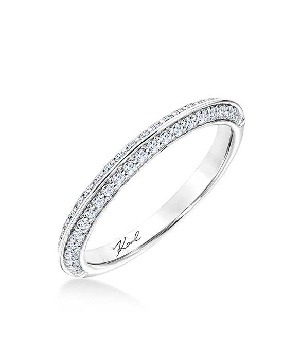 KARL LAGERFELD 31-KA110-L Platinum Wedding Ring