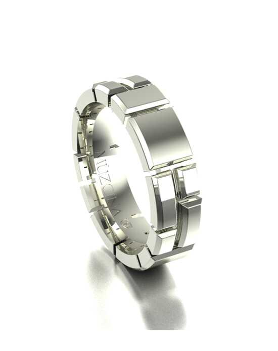 MÜZCINA by JJBückar BX14-H-100-X-XX-XX-14W-PX-65 White Gold Wedding Ring