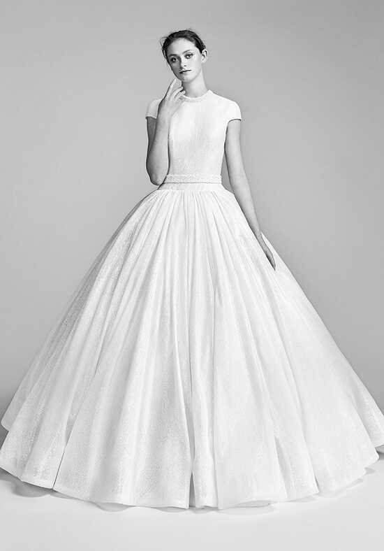 Viktor&Rolf Mariage Voluminous Flocked Sequin Gown Ball Gown Wedding Dress