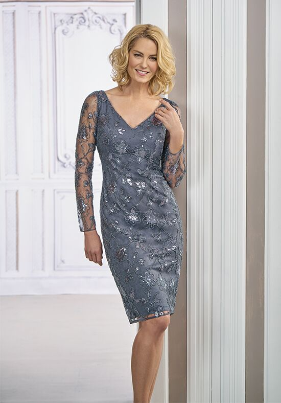 Jasmine Black Label M190011 Grey Mother Of The Bride Dress