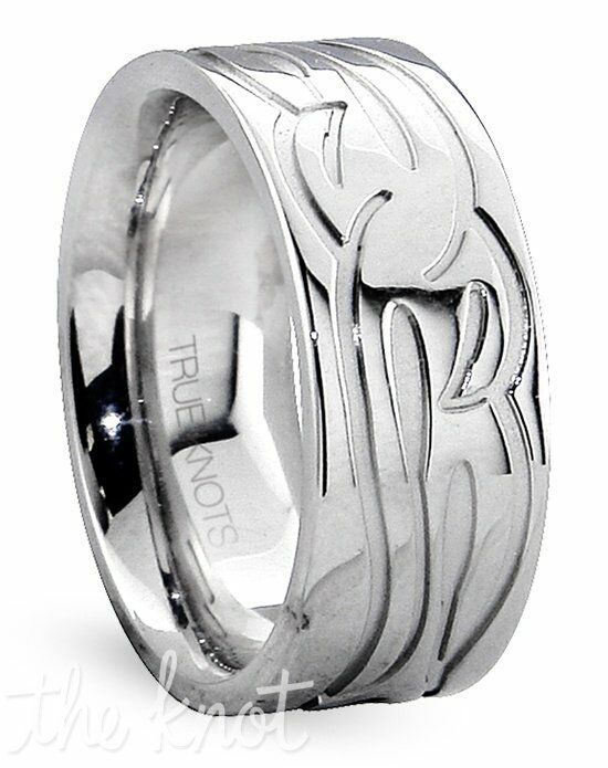 TRUE KNOTS TRUE MAN- 547DCW Palladium, Platinum, White Gold Wedding Ring