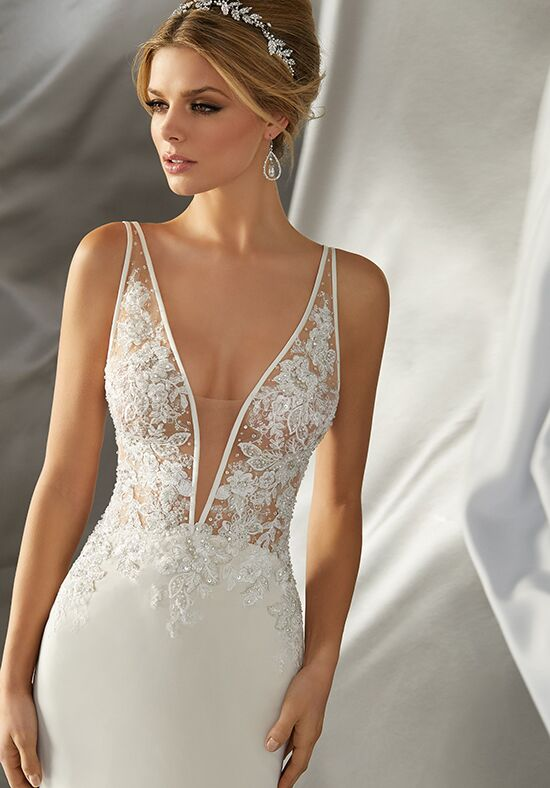 Morilee by Madeline Gardner/Voyage Malin | 6870 Sheath Wedding Dress