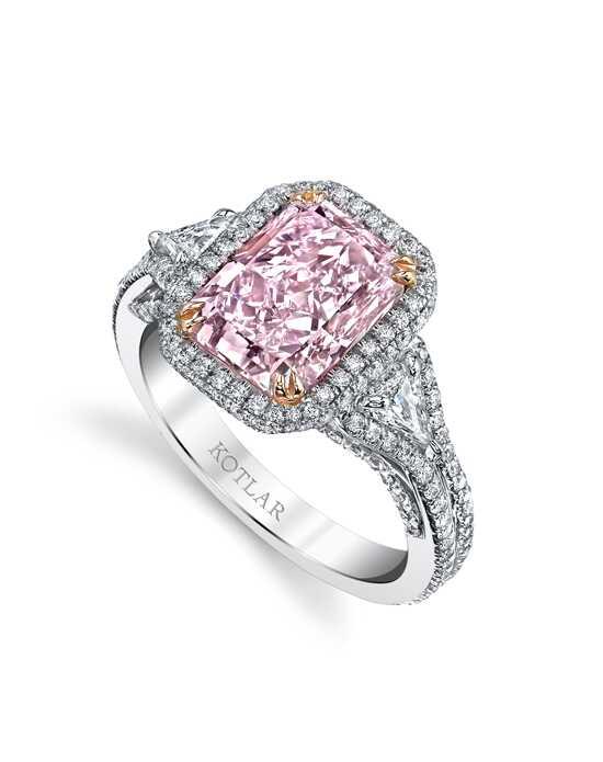 Unique radiant cut engagement rings