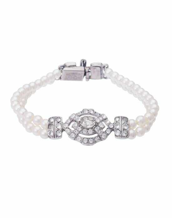 Thomas Laine Ben-Amun Vintage Style Deco Pearl Bracelet Wedding Bracelet photo