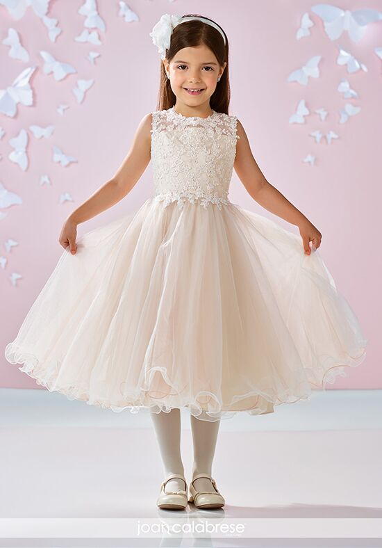 Joan Calabrese by Mon Cheri 117346 Gold Flower Girl Dress