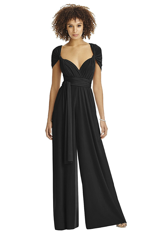 Dessy Collection MJ-JPTWIST Halter Bridesmaid Dress