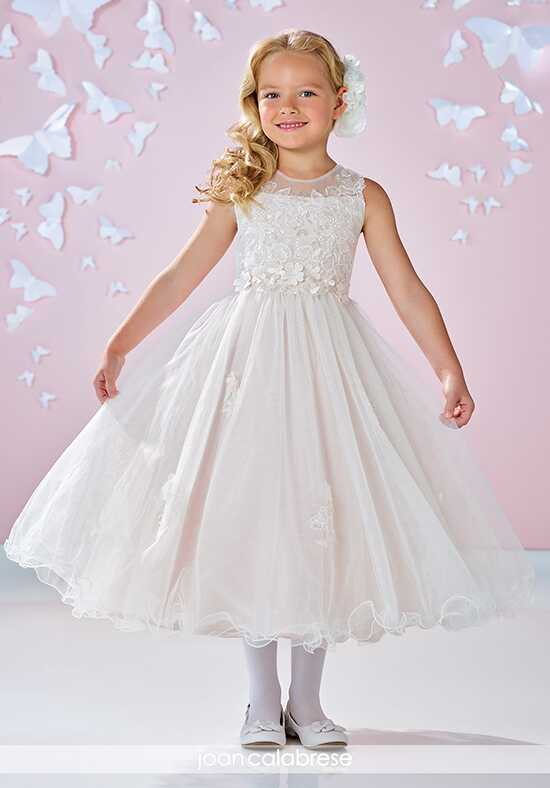 Joan Calabrese by Mon Cheri 117333 Ivory Flower Girl Dress