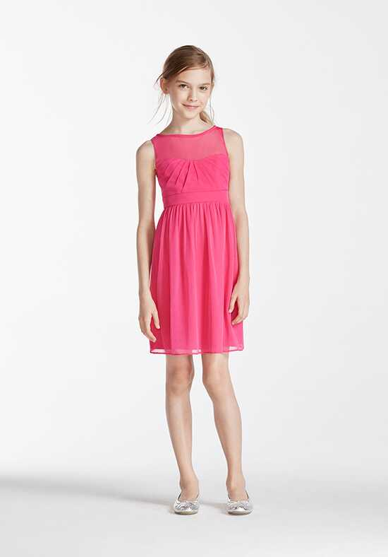David's Bridal Junior Bridesmaids David's Bridal Style JB5995 Illusion Bridesmaid Dress