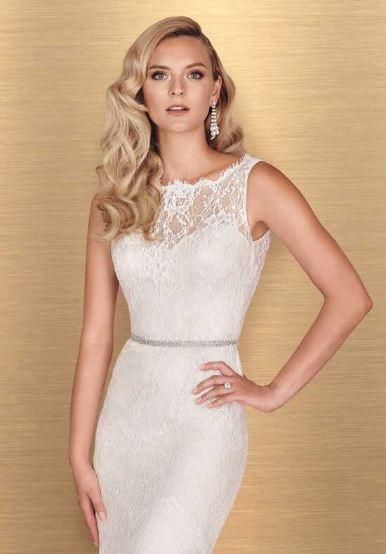 Paloma Blanca 4655 Sheath Wedding Dress