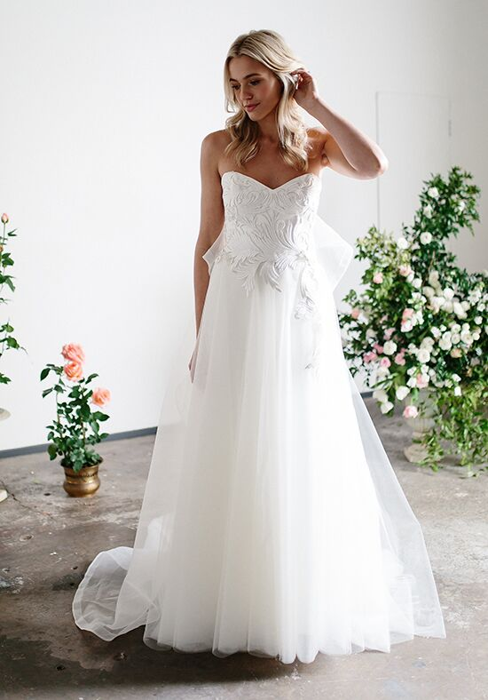 KAREN WILLIS HOLMES Odette A-Line Wedding Dress