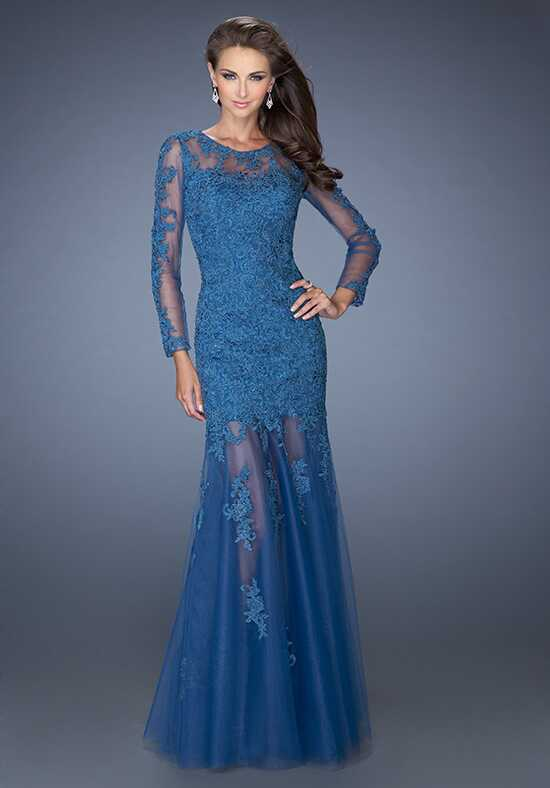 La Femme Evening 19343 Blue Mother Of The Bride Dress