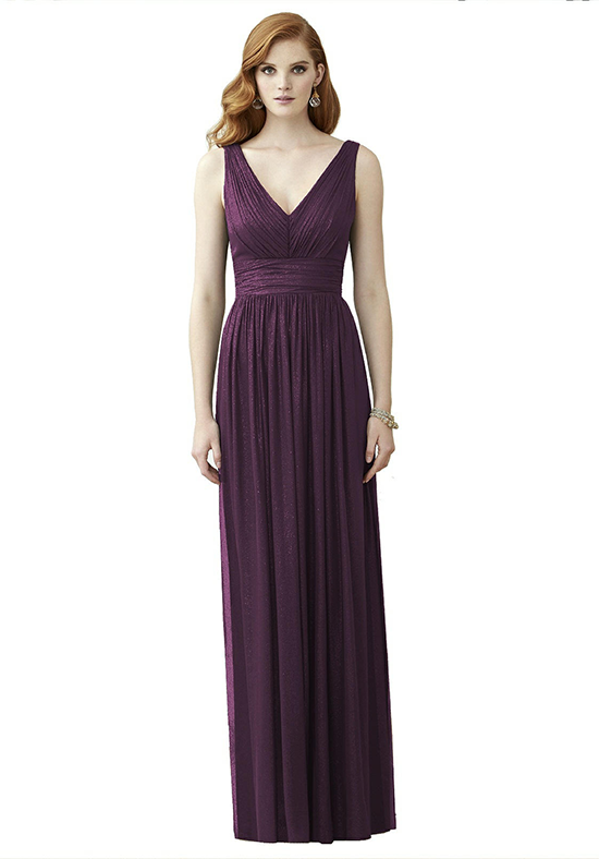 Dessy Collection 2955 V-Neck Bridesmaid Dress