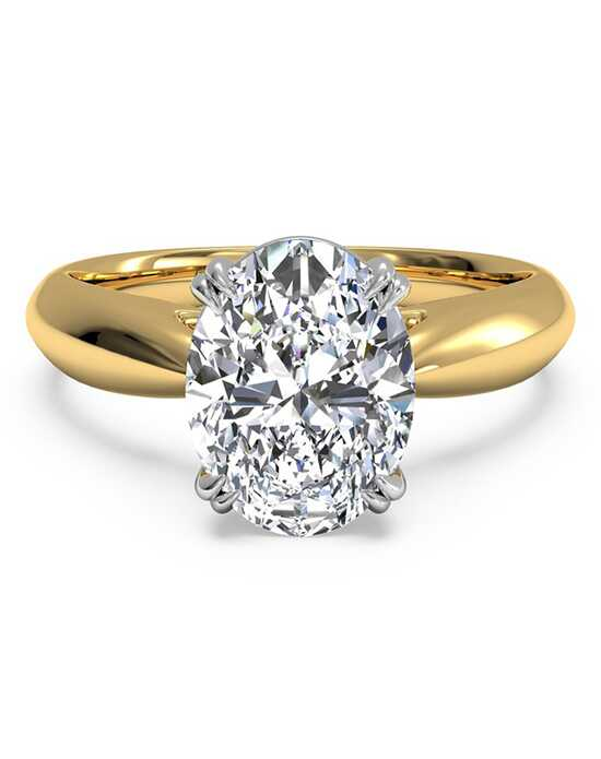 ritani solitaire diamond tulip cathedral engagement ring - Oval Wedding Rings
