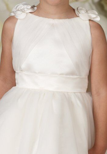 Joan Calabrese by Mon Cheri 29361 Ivory Flower Girl Dress
