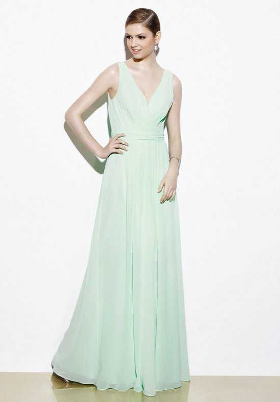 Badgley Mischka BM7L V-Neck Bridesmaid Dress