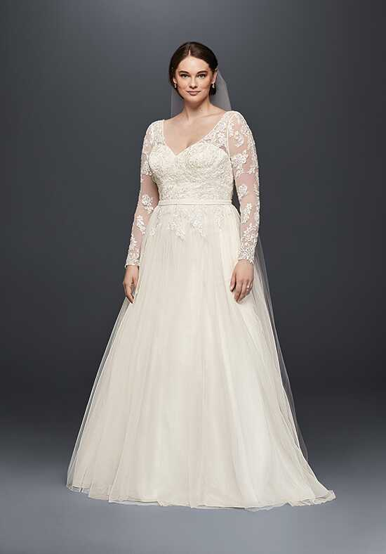 David's Bridal David's Bridal Collection Style 9WG3831 A-Line Wedding Dress