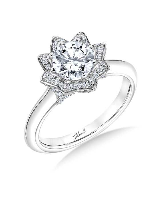 KARL LAGERFELD Unique Cut Engagement Ring