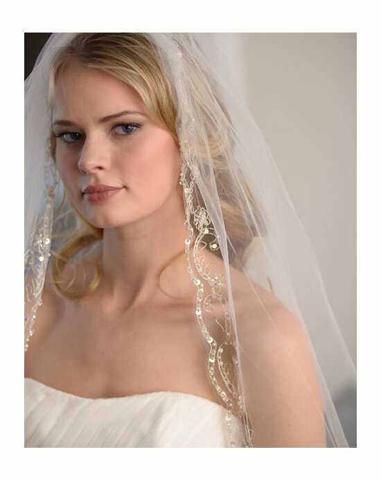 USABride 1-Layer, Extravagance Beaded Cathedral Veil VB-5035 Ivory Veil