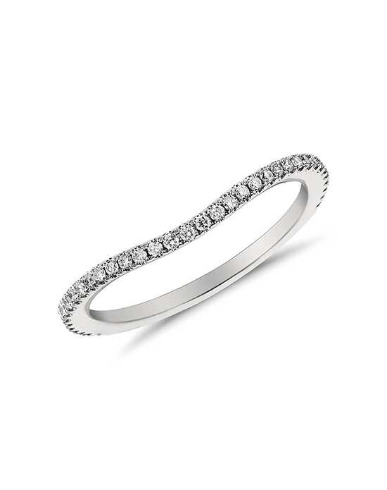Monique Lhuillier Fine Jewelry Curved Pavé Diamond Ring (1/5 ct. tw.) Platinum Wedding Ring