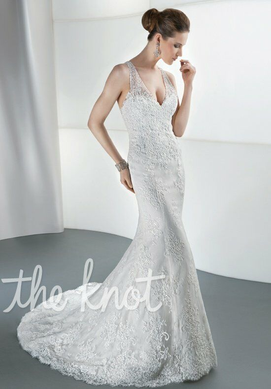 Demetrios 1447 Sheath Wedding Dress